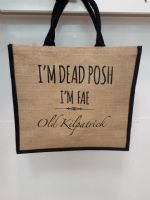 Dead Posh Large Jute Bag - Old Kilpatrick""